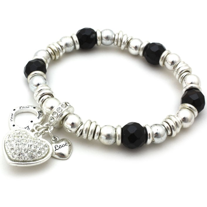 Silver Heart Charm Bracelet - Great Value for Money!
